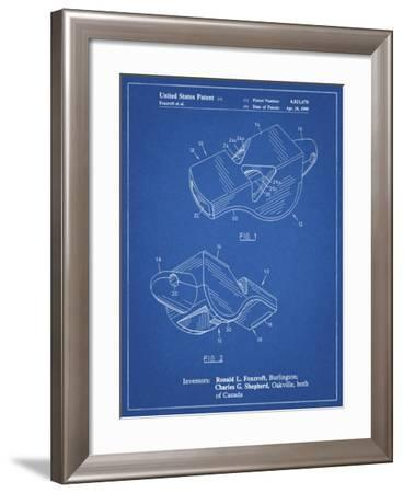 PP851-Blueprint Fox 40 Coach's Whistle Patent Poster-Cole Borders-Framed Giclee Print