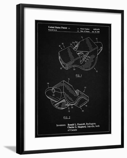 PP851-Vintage Black Fox 40 Coach's Whistle Patent Poster-Cole Borders-Framed Giclee Print