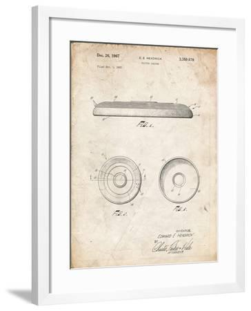 PP854-Vintage Parchment Frisbee Patent Poster-Cole Borders-Framed Giclee Print