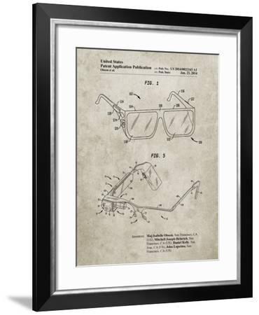 PP861-Sandstone Google Glass Patent Poster-Cole Borders-Framed Giclee Print