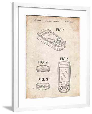 PP862-Vintage Parchment GPS Device Patent Wall Art Poster PP862-Cole Borders-Framed Giclee Print