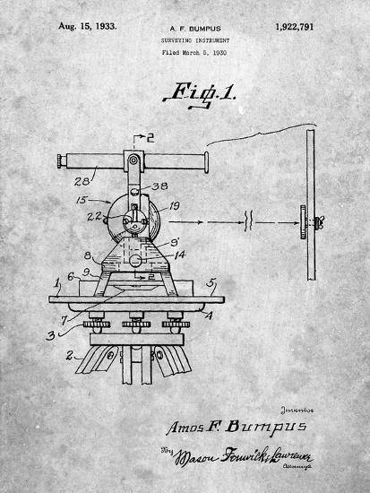 PP865-Slate Gurly Transit Patent Poster-Cole Borders-Giclee Print