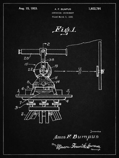 PP865-Vintage Black Gurly Transit Patent Poster-Cole Borders-Giclee Print