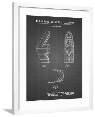 PP871-Black Grid Harley J. Earl Concept Tail Light Patent Poster-Cole Borders-Framed Giclee Print