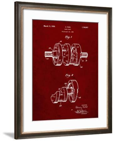 PP877-Burgundy Henry Ford Crank Shaft 1926 Poster-Cole Borders-Framed Giclee Print