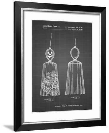 PP895-Black Grid Jack O'Lantern Patent Poster-Cole Borders-Framed Giclee Print