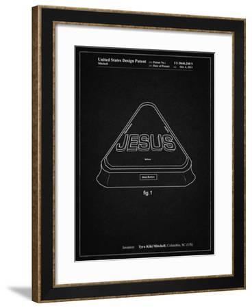 PP900-Vintage Black Jesus Button Poster-Cole Borders-Framed Giclee Print