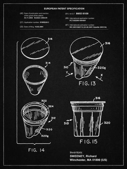 PP904-Vintage Black Keurig Cartridge Coffee Patent Poster-Cole Borders-Giclee Print