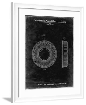 PP912-Black Grunge Kodak Carousel Patent Poster-Cole Borders-Framed Giclee Print
