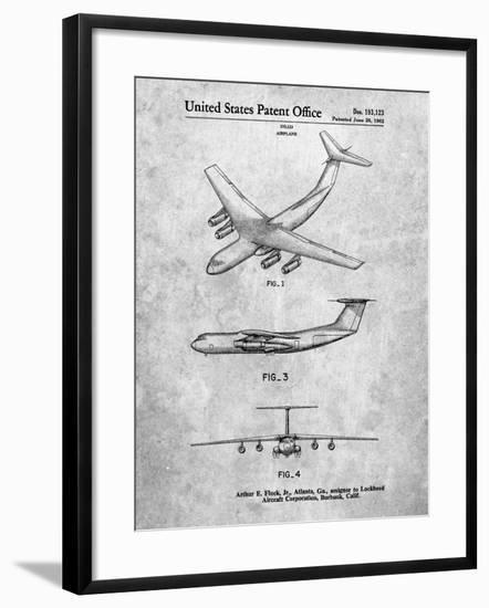 PP944-Slate Lockheed C-130 Hercules Airplane Patent Poster-Cole Borders-Framed Giclee Print