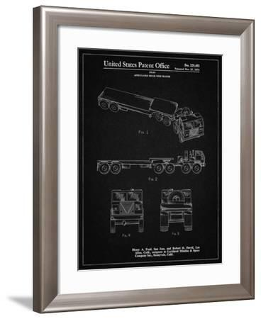 PP946-Vintage Black Lockheed Ford Truck and Trailer Patent Poster-Cole Borders-Framed Giclee Print