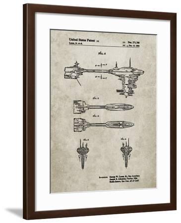 PP95-Sandstone Star Wars Nebulon B Escort Frigate Poster-Cole Borders-Framed Giclee Print