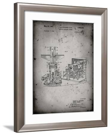PP959-Faded Grey Missile Launching System patent 1961 Wall Art Poster-Cole Borders-Framed Giclee Print