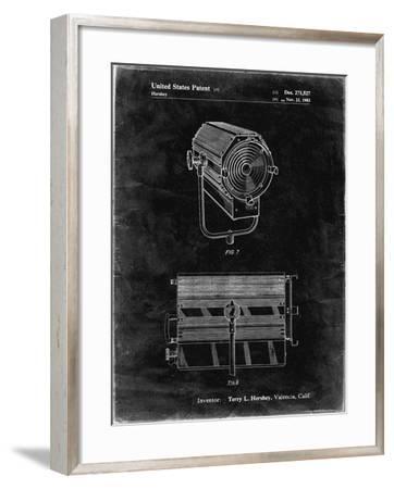 PP961-Black Grunge Mole-Richardson Film Light Patent Poster-Cole Borders-Framed Giclee Print