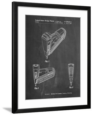 PP968-Chalkboard Nail Gun Poster-Cole Borders-Framed Giclee Print