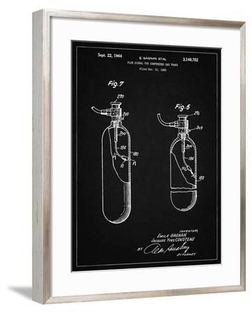 PP981-Vintage Black Oxygen Tank Poster-Cole Borders-Framed Giclee Print
