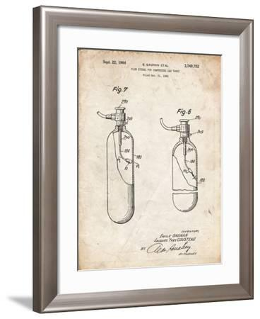 PP981-Vintage Parchment Oxygen Tank Poster-Cole Borders-Framed Giclee Print