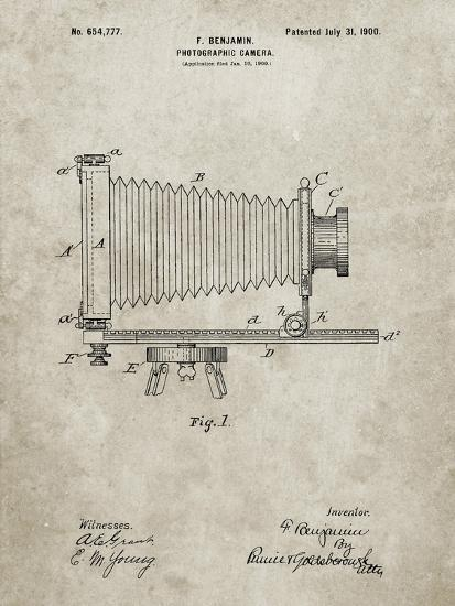 PP985-Sandstone Photographic Camera Patent Poster-Cole Borders-Giclee Print