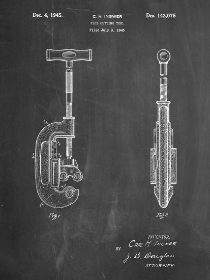 PP986-Chalkboard Pipe Cutting Tool Patent Poster-Cole Borders-Giclee Print