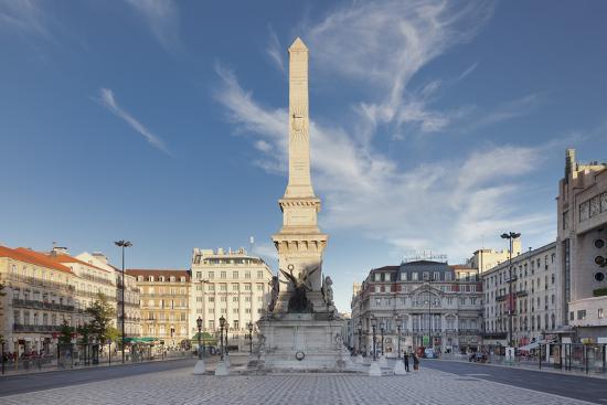 Praca dos Restauradores, Obelisk, Avenida da Liberdade, Lisbon, Portugal, Europe-Markus Lange-Photographic Print
