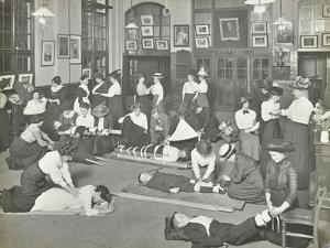 Practical First Aid Class for Women, Blackheath Road Evening Institute, 1914