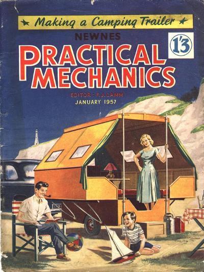 Practical Mechanics, Holiday Caravans, Trailers, Mobile Homes Magazine, UK, 1957--Giclee Print