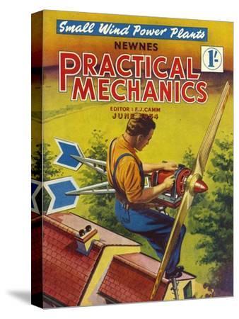 Practical Mechanics, Wind Power Turbine Global Warming Alternative Magazine, UK, 1954