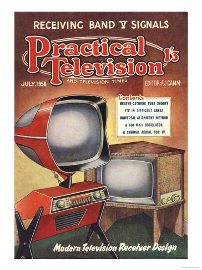 Practical Television, Visions of the Future, Televisions DIY Futuristic Magazine, UK, 1950--Giclee Print