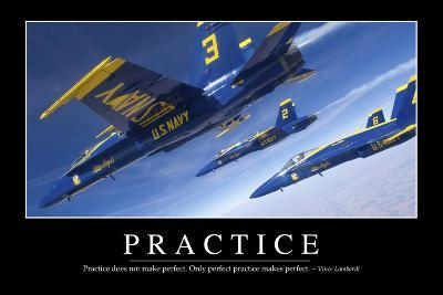 Practice: Inspirational Quote and Motivational Poster--Photographic Print