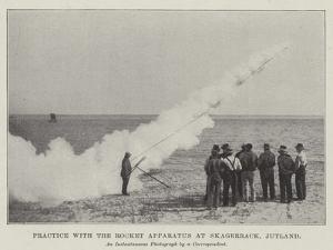 Practice with the Rocket Apparatus at Skagerrack, Jutland