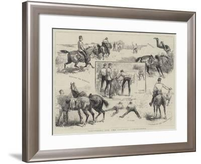 Practising for the Cavalry Competition--Framed Giclee Print