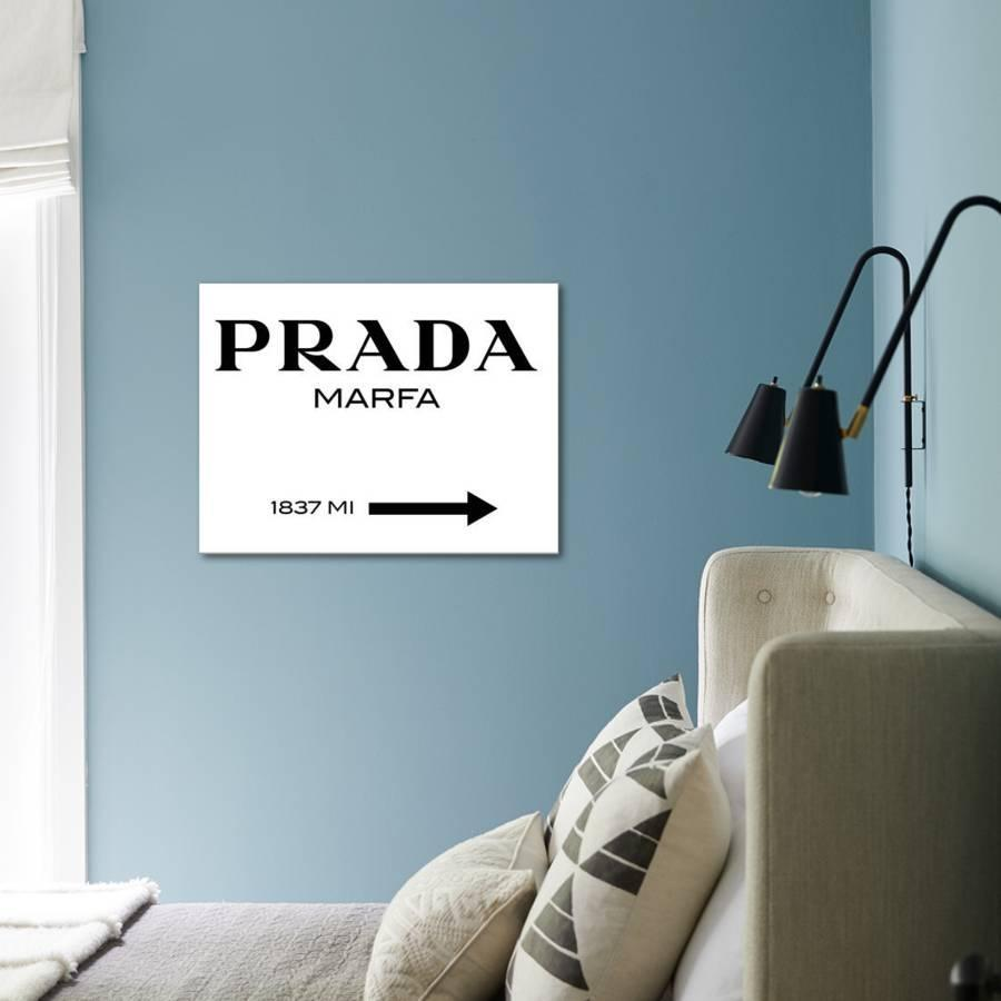 Prada Marfa Sign Stretched Canvas Print By Elmgreen And Dragset Art