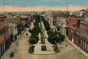 Prado Promenade, Havana, Cuba, 1910
