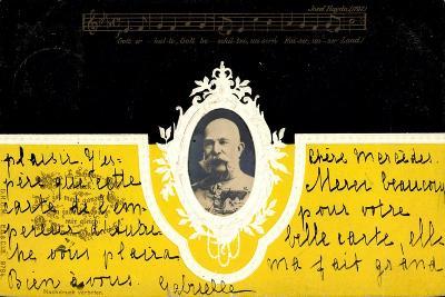 Präge Kaiser Wilhelm I Ludwig V Preußen, Haydn Lied--Giclee Print
