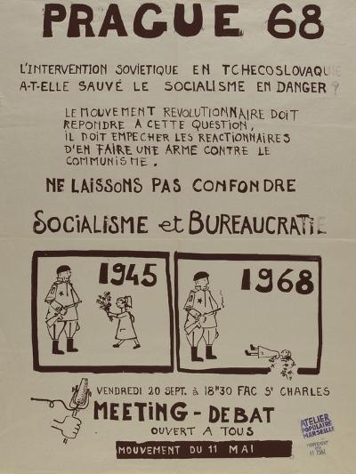 Prague 68, l'intervention soviétique enTchékoslovaquie a t-elle sauvé le socialisme--Giclee Print