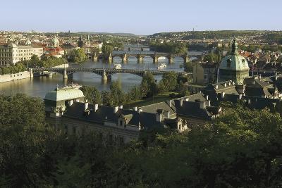Prague Bridges and Straka Academy, Czech Republic--Photographic Print