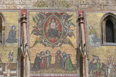 Prague. St. Vitus Cathedral. the Golden Gate. Mosaic of the Last Judgement (1372)--Photographic Print
