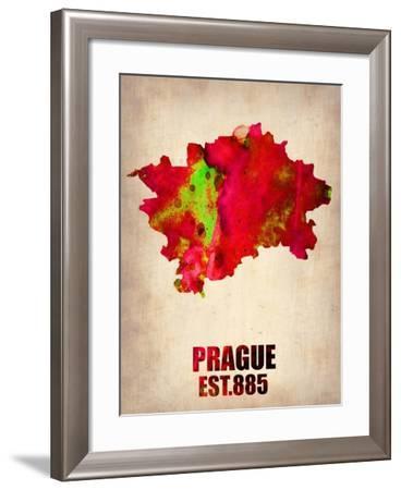 Prague Watercolor Poster-NaxArt-Framed Art Print