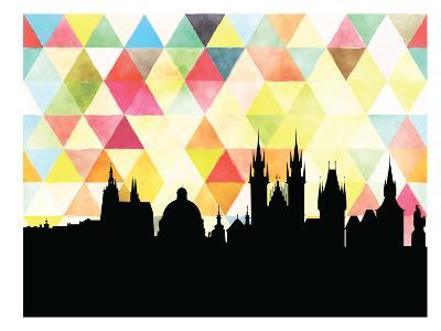 Praha Triangle--Art Print