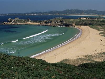 Praia De Foxos, Atlantic-Facing Beach, Ria De Pontevedra, Galicia, Spain-Duncan Maxwell-Photographic Print