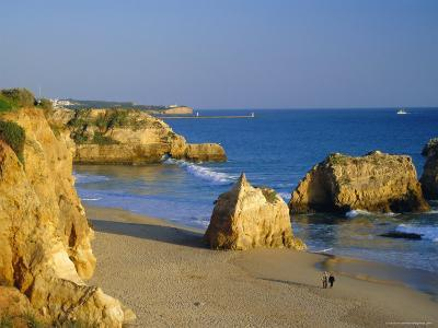 Praia De Rocha, Western Algarve, Portugal, Europe-Amanda Hall-Photographic Print