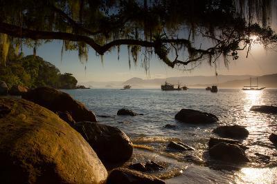 Praia Picinguaba in Ubatuba, Sao Paulo State, Brazil, at Sunset-Alex Saberi-Photographic Print