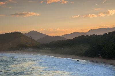 Praia Vermelha Do Centro Surfer Beach and Serra Do Mar State Park in Ubatuba, Brazil-Alex Saberi-Photographic Print