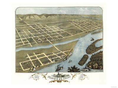 Prairie du Chien, Wisconsin - Panoramic Map-Lantern Press-Art Print