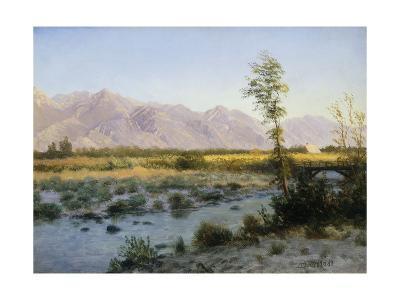 Prairie Landscape-Albert Bierstadt-Giclee Print