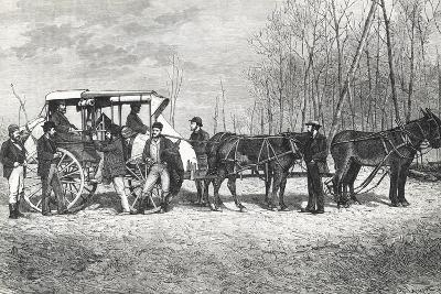 Prairie Stagecoach--Giclee Print
