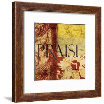 Praise Red-Jace Grey-Framed Art Print