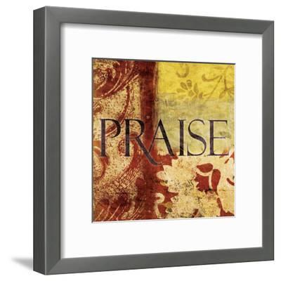 Praise Red-Jace Grey-Framed Art Print