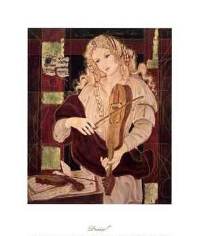 Praise (Violin)-Christine Garner-Art Print