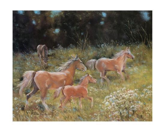Prancing Horses-H?l?ne L?veill?e-Art Print